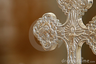 Detail silver cross