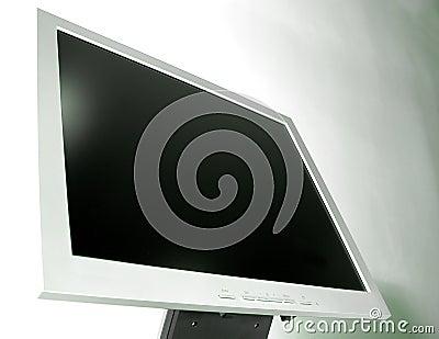 Detail - Slim LCD monitor Stock Photo