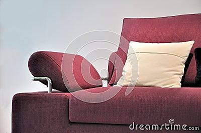 Detail of sofa handle