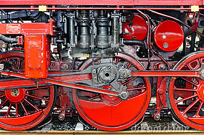 Detail of a steam locomotive