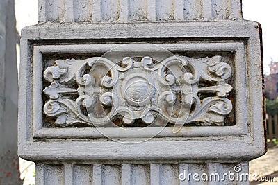 Detail stone column