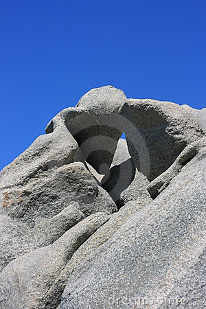 Detail of stone made by wind