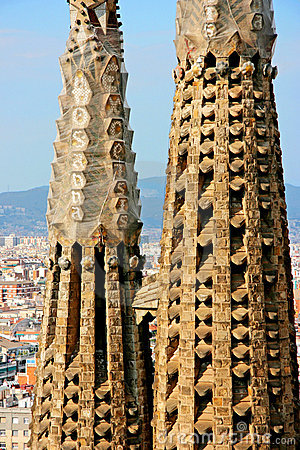 Detail of the temple of the Sagrada Familia