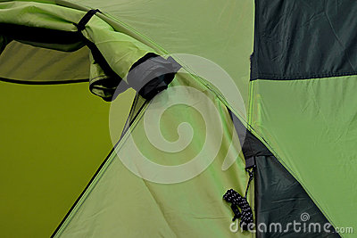 Detail of tent in green color