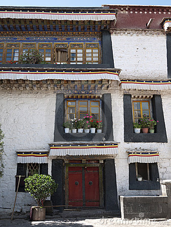 Detail of tibetan building