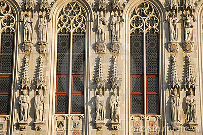 Detail on Town Hall, Bruges