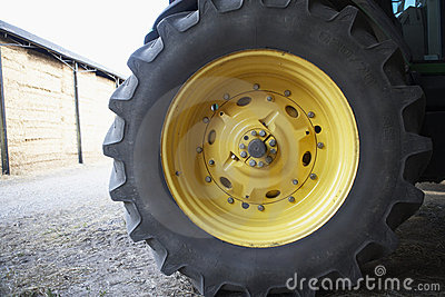 Detail Of Tractor Tyre