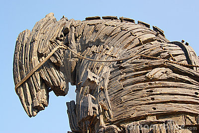 Detail of the trojan horse