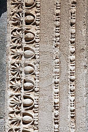 Detail van de Tempel van Hadrian in Ephesus. Izmir Turke
