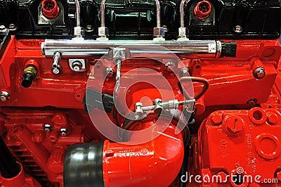 Detail van dieselmotor
