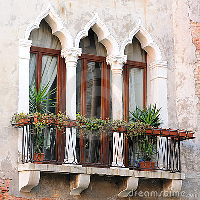 Detail of Venetian Architecture, Venice, Italy