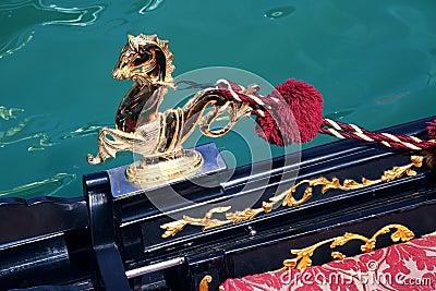 Detail of Venetian gondola