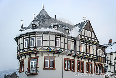 Detail view half-timbered house