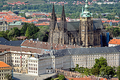 Detail View of Prague city