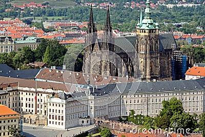 Detail View of Prague city