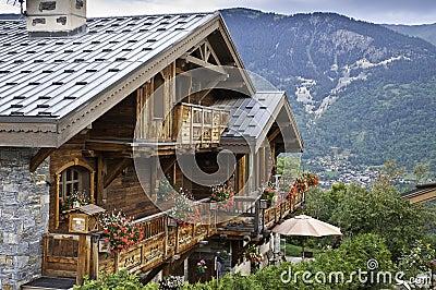 Detail of the village of Le Praz