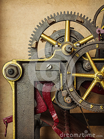 Detail of a vintage church clock