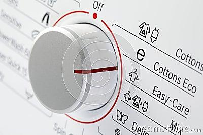 Detail of washing machine