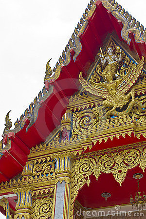 Detail of the Wat Chalong Temple