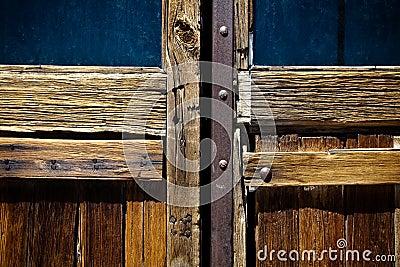 Detail of weathered wooden door