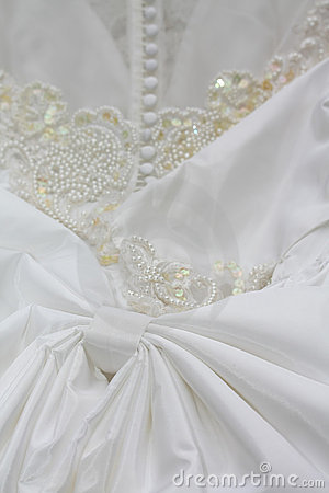 Detail of a wedding dress