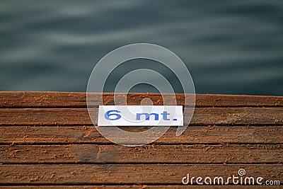 Detail of wooden pier