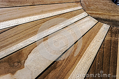 Detail of a wooden table