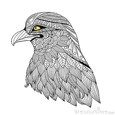 Free Detail Zentangle Eagle Royalty Free Stock Photography - 60783557