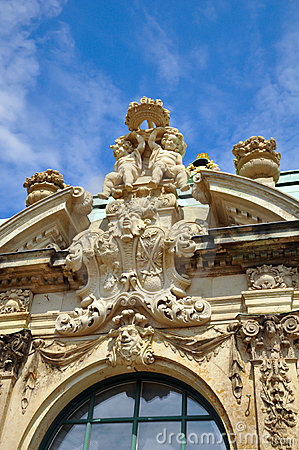 Detail of Zwinger museum Dresden.