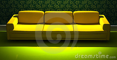 Detailed 3d rendering modern sofa
