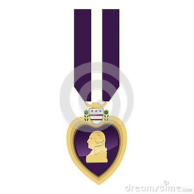 Free Detailed Close Up Of A Purple Heart Medallion Stock Image - 106508461