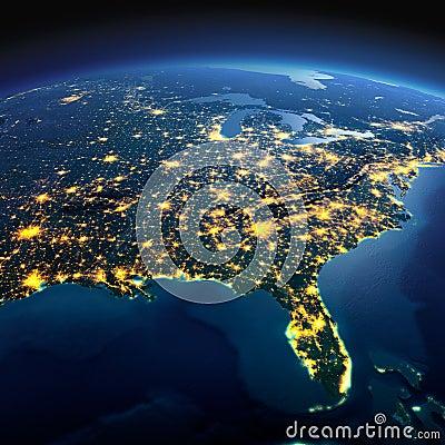 night light footprint north america nasa - photo #26