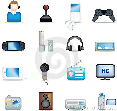 Detailed entertainment icons