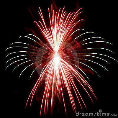 Detailed Firework Closeup