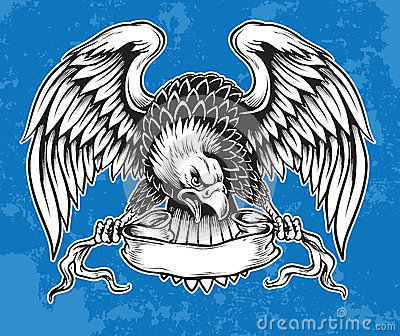 Indian Motorcycle Vintage >> Detailed Hand Drawn Eagle Stock Images - Image: 33176654