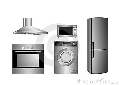 Detailed household appliances
