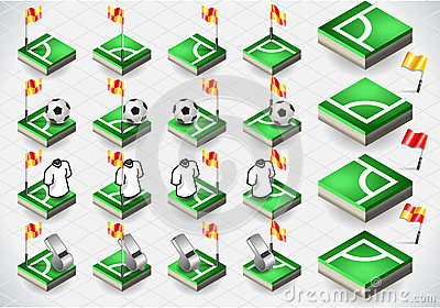 Set of Soccer Corner and Icons