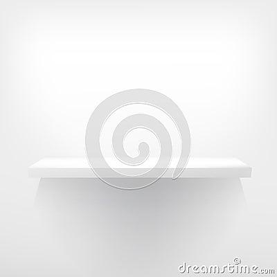 Detailed illustration of white shelves.