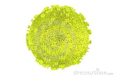 Detailed influenza virus model in green