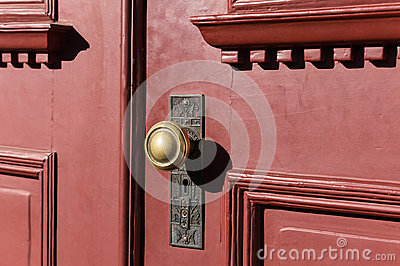 Detailed knob on an old door