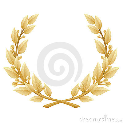 Detailed Laurel Wreath Victory or Quality Award,