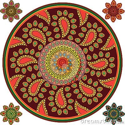 Detailed Mandala Background
