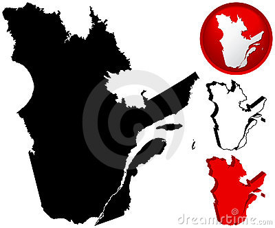 Detailed Map of Quebec, Canada
