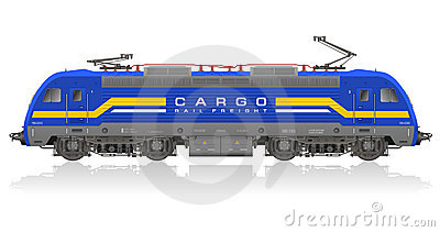 Detailed model of electric locomotive