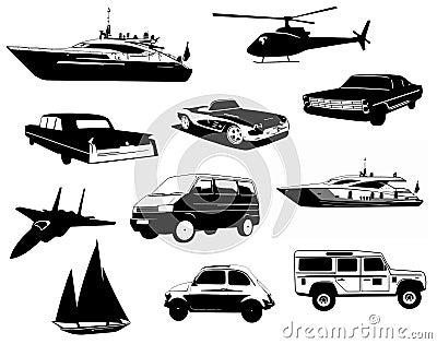 Detailed Vehicles Set