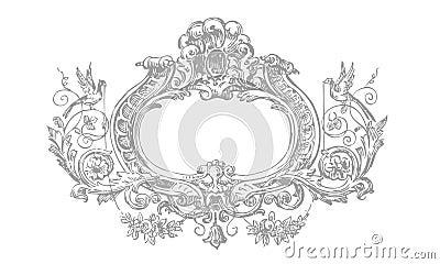 Detailed Victorian Floral Frame