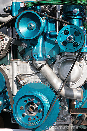 Detailed view of gears from machine