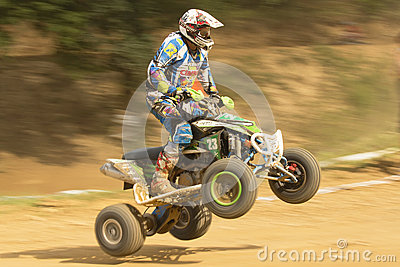 Detailed view od of rider in the quad jump Editorial Stock Photo