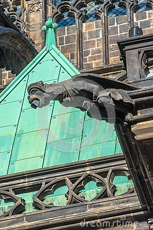 Free Detailed View Of The Statue On Prague Castle In Pr Stock Photos - 28825693