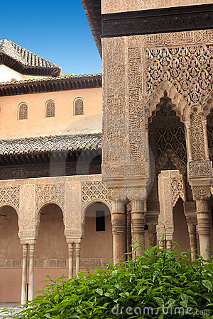Details of Alhambra palace in Granada, Andalusia,